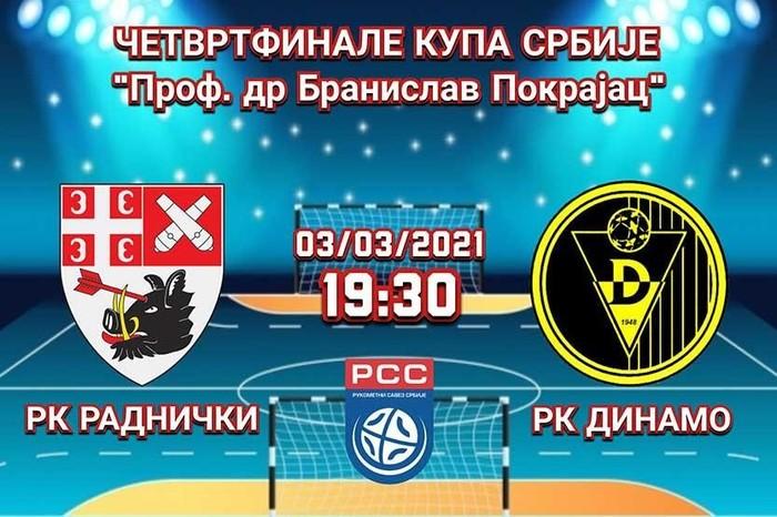 Rukomet: Kragujevački Radnički želi plasman na završni turnir Kupa Srbije